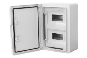 Шкаф ударопрочный модульный ABS 250х350х150, 8х2 модулей, IP65