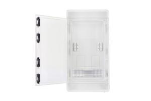 Шкаф ударопрочный для трехфазного счетчика ABS 240x460x132, с прозрачными дверцами