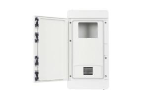 Шкаф ударопрочный для трехфазного счетчика ABS 240x460x132