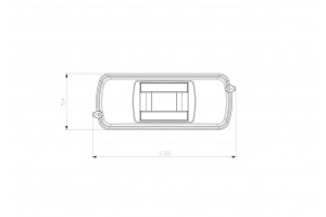 Корпус пластиковый 1-2 модульный навесной