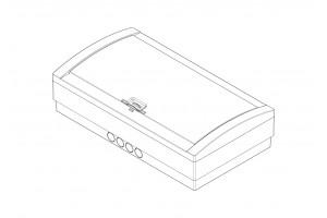 Корпус пластиковый 18-модульный навесной