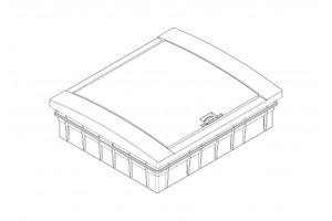 Корпус пластиковый 24-модульный встроенный