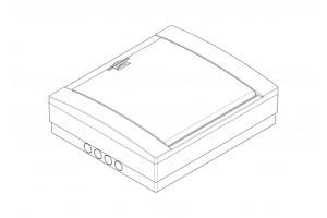 Корпус пластиковый 24-модульный навесной