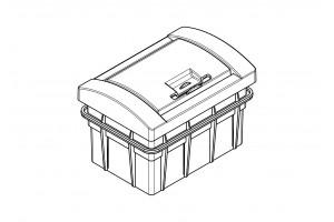 Корпус пластиковый 2-модульный встроенный