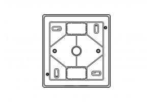 Корпус пластиковый 4-модульный навесной