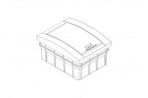 Корпус пластиковый 6-модульный  встроенный