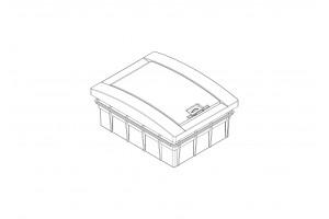 Корпус пластиковый 8-модульный встроенный