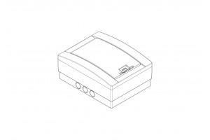 Корпус пластиковый 8-модульный навесной