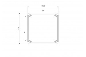 Коробка монтажная ABS 110х110х74, ІР65