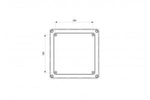 Коробка монтажная ABS 200х200х80, ІР65
