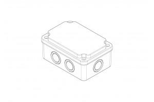 Коробка монтажная ABS 80х120х55, IP65