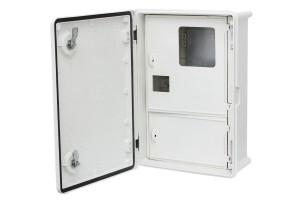 Шкаф ударопрочный двухсекционный для счетчика и 12 модулей,350x500x170 IP65,PES