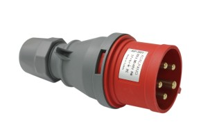 Силовая вилка переносная 5п, 32A, 380В IP44