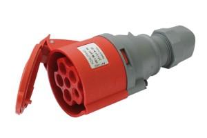Силовая розетка переносная 5п, 32А, 380В IP44