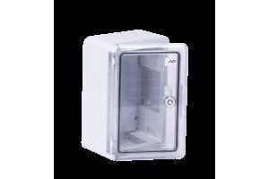 Шкаф ударопрочный ABS 200X300X130 МП с прозрачной Дверцей