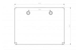 Шкаф ударопрочный ABS 300X400X170  МП с прозрачной Дверцей