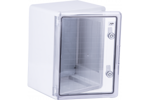 Шкаф ударопрочный ABS 300X400X220 МП с прозрачной Дверцей