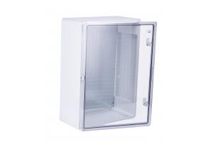Шкаф ударопрочный ABS 500x700x250 МП с прозрачной Дверцей