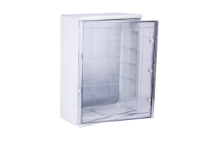 Шкаф ударопрочный ABS 600x800x260 МП с прозрачной Дверцей